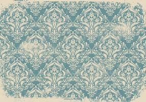 Blue Grunge Damask Background