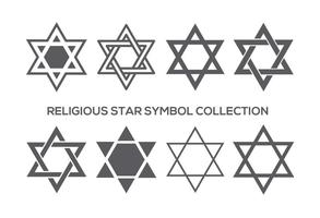 Religious Star Symbol Collection vector