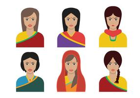 Indian Woman vector