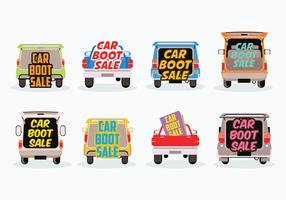 Gratis Car Boot Sale Vector