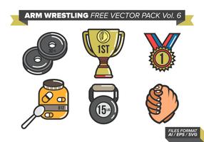 Arm wrestling kostenlos vektor pack vol. 6