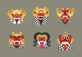 Masque de barong culturel balinais indonésien