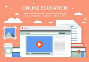 Gratis online utbildning vektor bakgrund