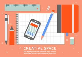Free Business Workspace Vector Background