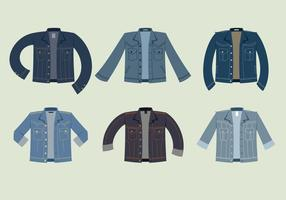 Jaqueta de jean azul vetor livre