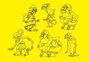 Personajes vectoriales Wayang 1