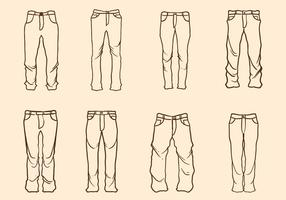 Free Hand Drawn Jeans Vector