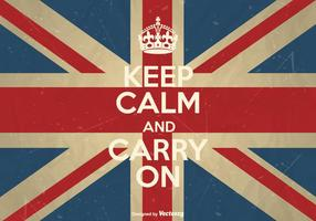 Free Vector Keep Calm And Carry On Poster