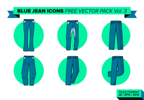 Blaue Jean Icons Free Vector Pack Vol. 3