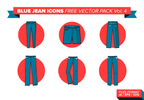 Blaue Jean Icons Free Vector Pack Vol. 4