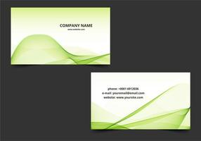 Free Vector Green Wavy Business Card