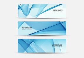 Vector Wavy Headers