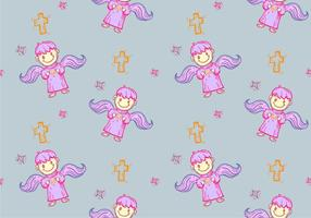 Free Bautizo Seamless Pattern Vector Illustration