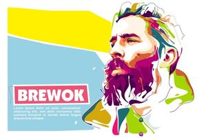 Lumbersexual in Popart Portrait