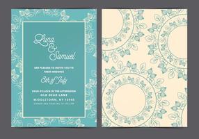 Convite do casamento do vetor