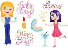 Gratis Girls Night Vectors