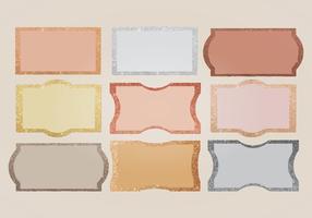 Etiquetas de borda de brilho vetorial