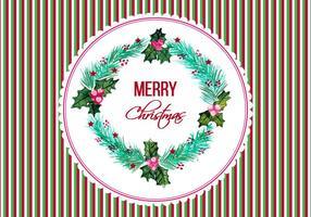 Quadro de Natal de vetores grátis em estilo aquarela