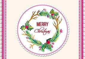 Free Vector Watercolor Christmas Frame