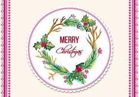 Cornice di Natale dell'acquerello di vettore gratis
