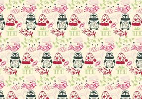 Weihnachten Muster Free Vector Mit Weihnachten Elemente