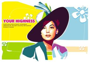 Your Highness in Popart Portrait - WPAP vector