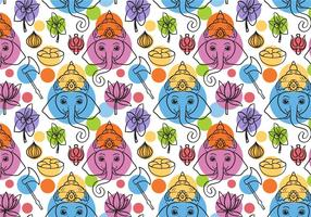 Vetores de padrões Ganesha grátis