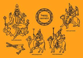 Navratri Vector Illustrations 2
