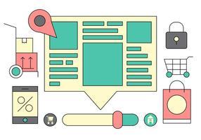 Web Portal UI Vector Ikoner