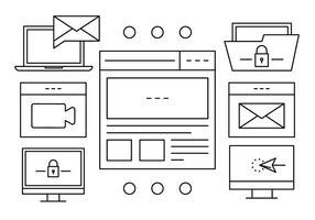 Iconos de vector de gestión de archivos