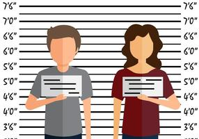 Mugshot flat illustration
