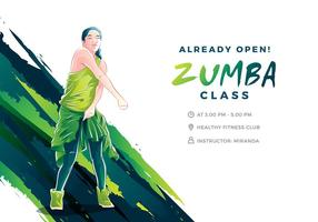 Zumba illustration cool vecteur gratuit