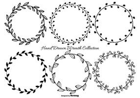 Cute Hand Drawn Wreath Frames vector