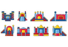 Set von Bounce House Icons
