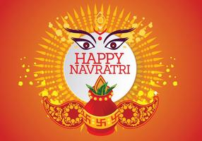 Vetor criativo para Shubh Navratri ou Durga Puja
