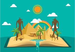 Pyramide verhaal Platte vrije vector
