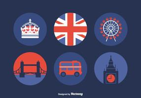 Vector Iconos de Londres gratis