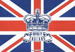 Grunge libre corona británica vector