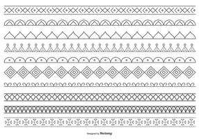 Leuke Decoratieve Vector Border Collection