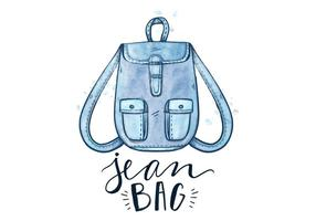 Free Blue Jean Bag vector