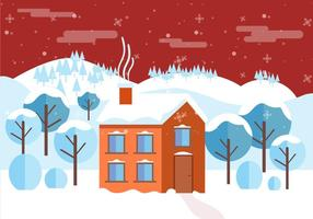 Free Vector Winter Landschaft