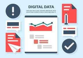 Digital Data Vector Illustration