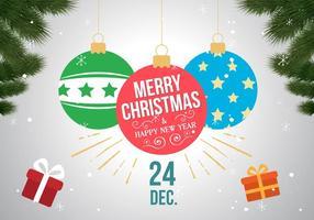 Bolas libres del vector de la Navidad