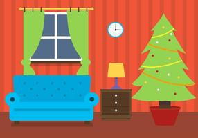 Free Christmas Vector Room