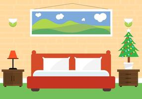 Free Christmas Vector Bedroom