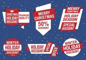 Free Christmas Vector Business Labels