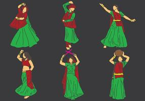 Livre Garba Icons Vector