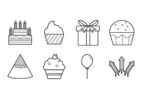 Vetor de ícone de aniversário gratuito
