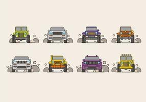 Vector Illustration of SUV Car or Jeep