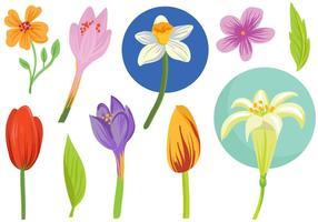 Freie Frühlingsblumen Vektoren